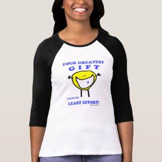 """""""Fudsy hace frente"""" - al 3/4 brazo de las mujeres, Camisetas"""