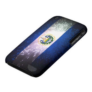 Fuego artificial; Bandera de El Salvador Funda Para iPhone 3 De Case-Mate