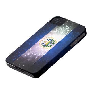 Fuego artificial; Bandera de El Salvador Funda Para iPhone 4 De Case-Mate