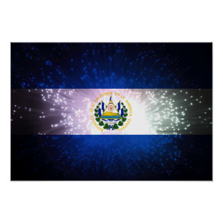 Fuego artificial; Bandera de El Salvador Póster