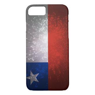 Fuego artificial de la bandera de Chile Funda iPhone 7