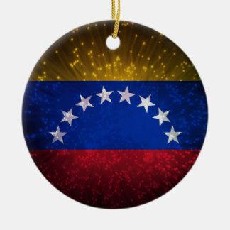 Fuego artificial de la bandera de Venezuela Ornamentos De Reyes Magos