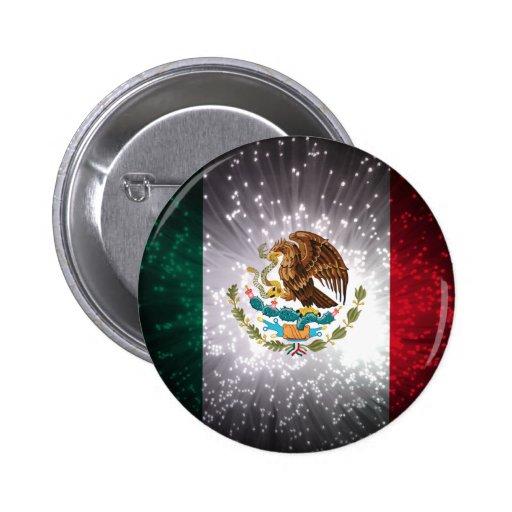 Fuego artificial de la bandera mexicana pin