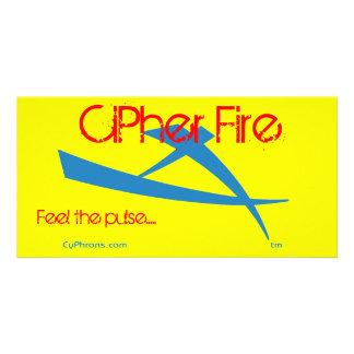 Fuego Cypheron de la cifra Tarjetas Fotográficas