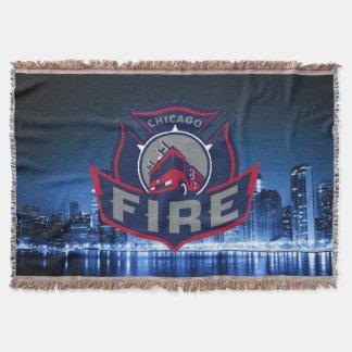 Fuego de Chicago con horizonte Manta