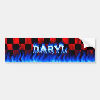 Fuego de Daryl y diseño azules de la pegatina para Pegatina Para Coche