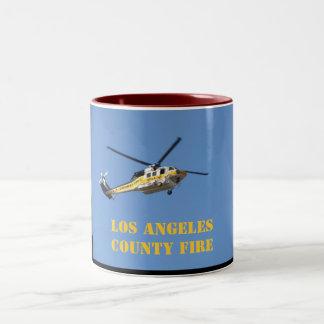 Fuego del condado de Los Angeles Taza De Dos Tonos
