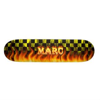 Fuego del monopatín de Marc y diseño de las llamas