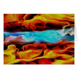 Fuego e hielo tarjeta de felicitación