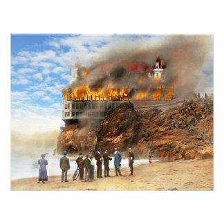 Fuego - fuego 1907 de Cliffside Folleto 21,6 X 28 Cm