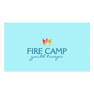 Fuego llameante (naranja para picar las llamas) tarjetas de visita