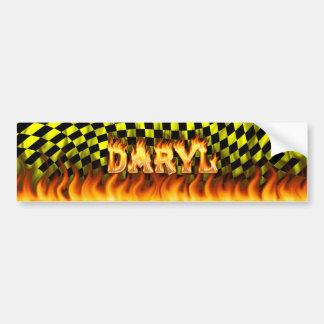 Fuego real de Daryl y diseño de la pegatina para e Pegatina Para Coche