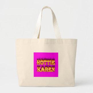 Fuego y llamas de Hottie Karen Bolsas De Mano