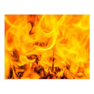 Fuego y llamas postal