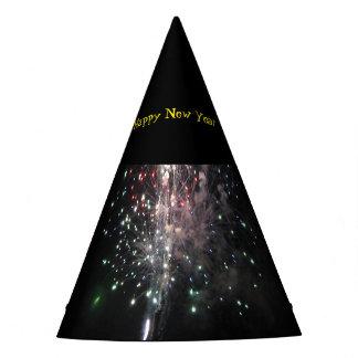 Fuegos artificiales de la Feliz Año Nuevo Gorro De Fiesta
