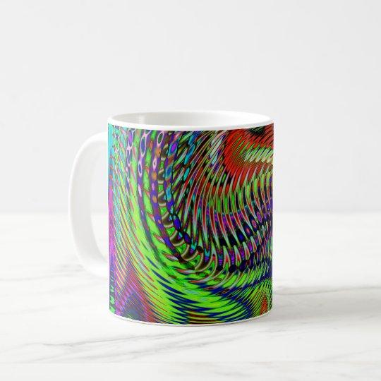 Fuegos artificiales del baile taza de café