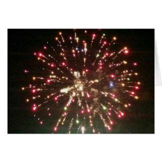 ¡Fuegos artificiales el 4 de julio! Tarjeta De Felicitación
