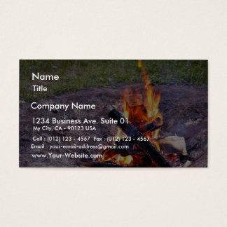 Fuegos del campo tarjeta de negocios