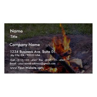 Fuegos del campo tarjetas de visita