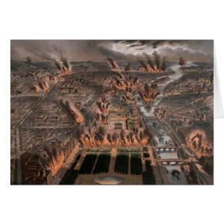 Fuegos en París 24ta 25 de mayo de 1871 Tarjetón