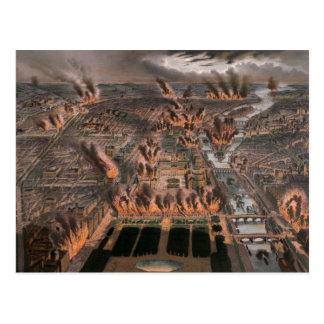 Fuegos en París 24ta 25 de mayo de 1871 Postales