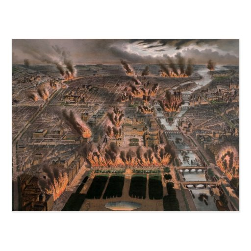 Fuegos en París, 24ta 25 de mayo de 1871 Postales