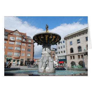 Fuente bien Copenhague Dinamarca de Caritas Tarjeta De Felicitación