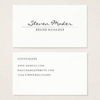 Fuente cursiva minimalista tarjeta de negocios