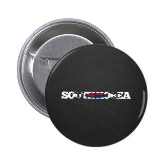 Fuente de la bandera de la Corea del Sur Chapa Redonda 5 Cm