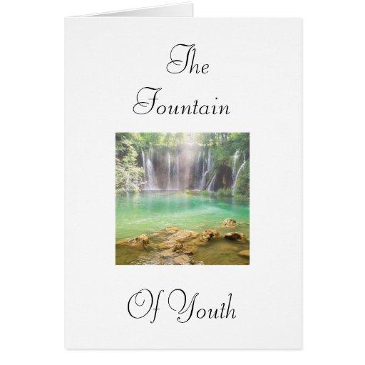 Fuente de la juventud tarjeta