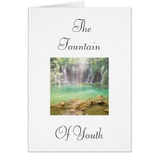 Fuente de la juventud tarjeta de felicitación