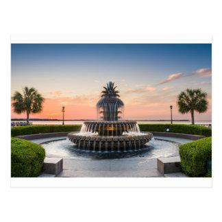 Fuente de la piña de Charleston Carolina del Sur Postal