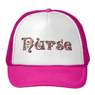 Fuente de lujo Enfermera-Púrpura Gorros Bordados