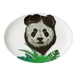 Fuente De Porcelana Animal del oso de panda del inconformista