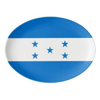 Fuente De Porcelana Bandera de Honduras