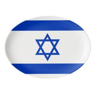 Fuente De Porcelana Bandera de Israel