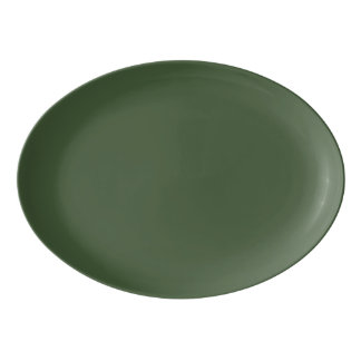 Fuente De Porcelana Color sólido de Forest Green