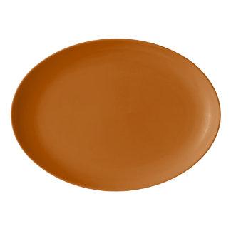 Fuente De Porcelana Color sólido de la especia de la calabaza