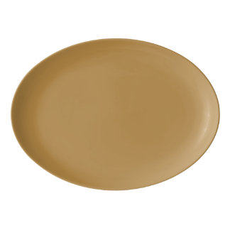 Fuente De Porcelana Color sólido de la miel de Brown