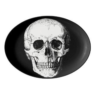 Fuente De Porcelana Disco del cráneo