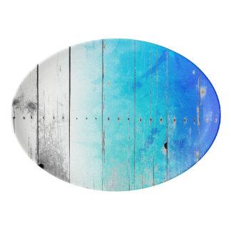 Fuente De Porcelana El azul del Driftwood pintó náutico resistida