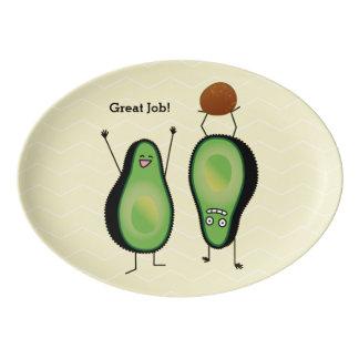 Fuente De Porcelana Hoyo verde divertido del handstand del aguacate