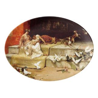 Fuente De Porcelana Las doncellas romanas de Juan Luna