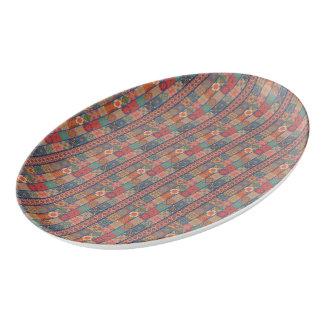 Fuente De Porcelana Ornamento de Talavera del mosaico del vintage
