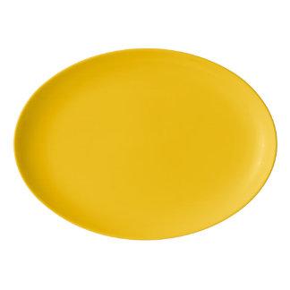 Fuente De Porcelana Personalizar ambarino del color sólido él