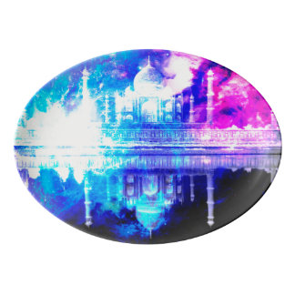 Fuente De Porcelana Sueños del Taj Mahal del cielo de la creación