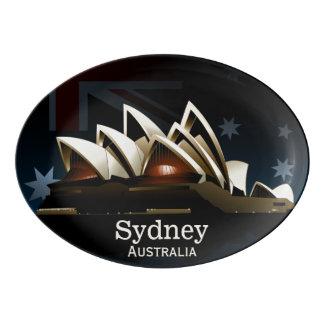 Fuente De Porcelana Teatro de la ópera de Sydney en la noche
