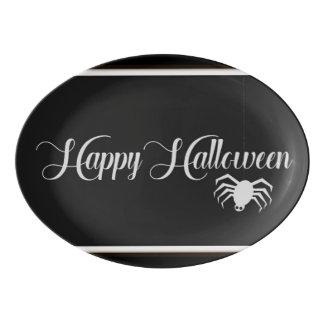 Fuente De Porcelana Tipografía del feliz Halloween