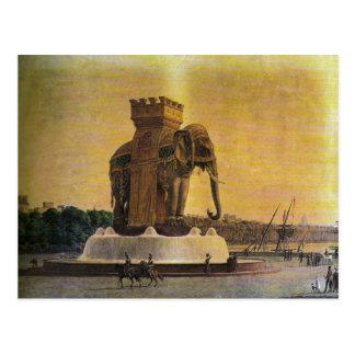 Fuente del elefante, de una vez en el lugar la Bas Tarjetas Postales
