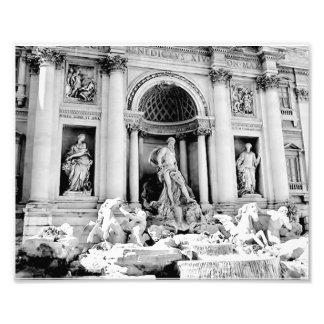 Fuente del Trevi, blanco y negro Fotografía